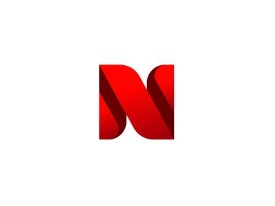 N Logo mark n logotype illustration monogram symbol mark identity branding idea icon logo