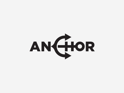 Anchor ⚓ inspiration creative clever minimal modern ship naval sea anchor logotype idea logo