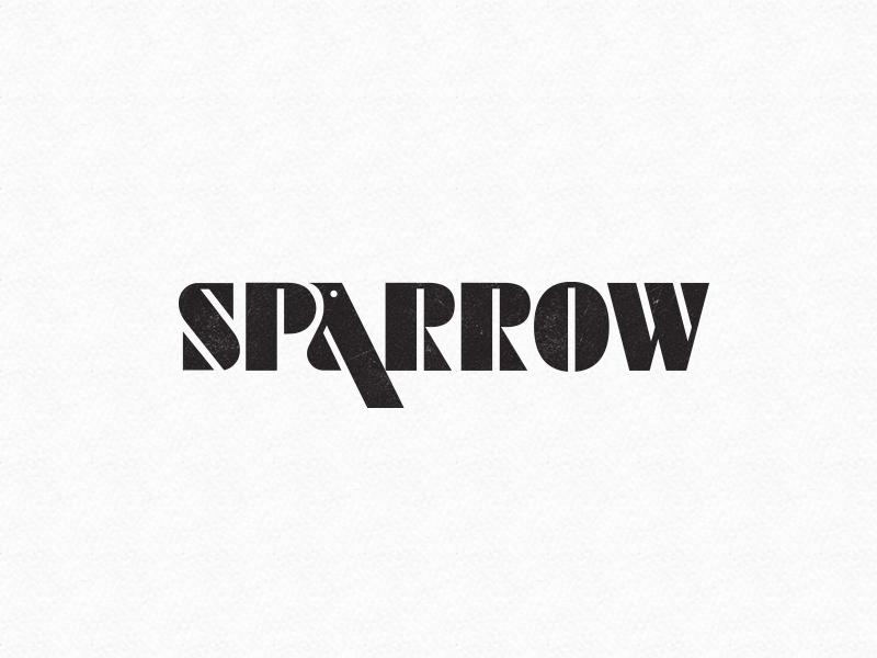 Sparrow Logo illustration monogram symbol mark identity branding idea icon logo animal bird sparrow
