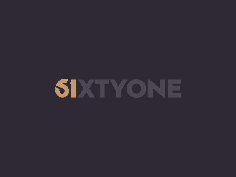 SixtyOne Restaurant Logo pizza restaurant hotel food monogram symbol mark identity branding idea icon logo