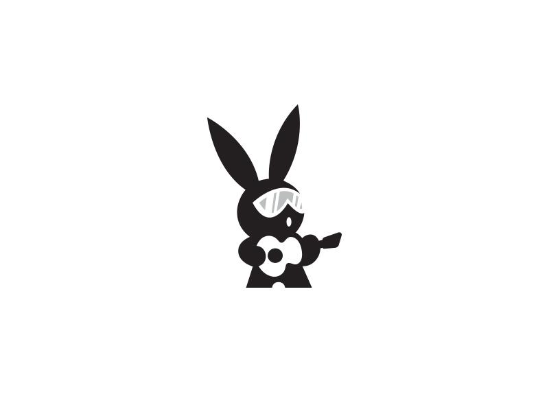 Rockstar Rabbit illustration animals inspiration guitar logos cute love music icon logo animal rabbit