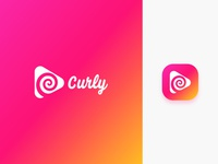 Curly App logo & Icon