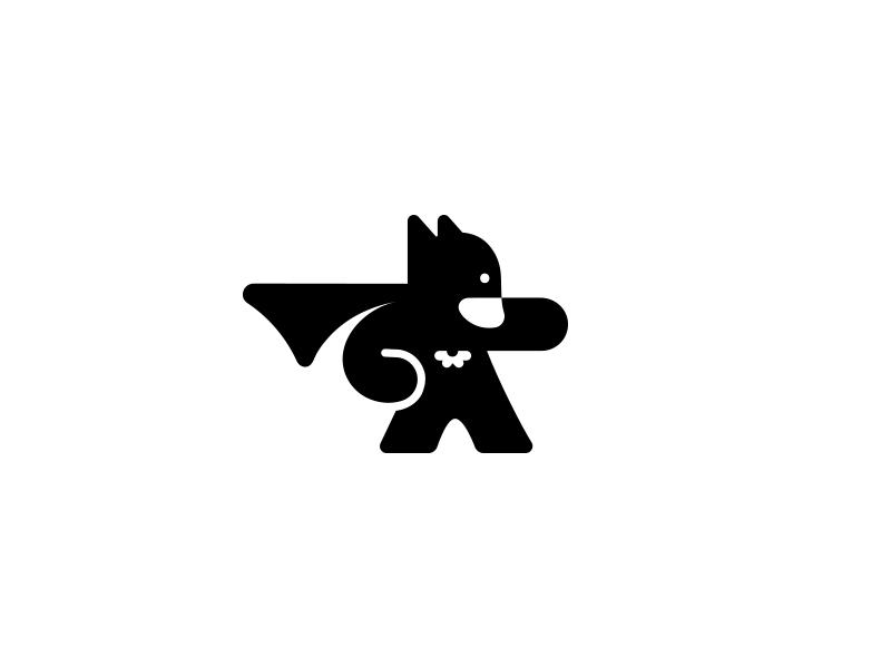 Batman illustration logotype identity subtle marvel creative superhero symbol icon logo