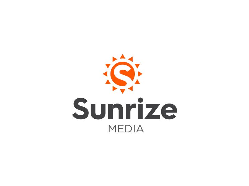 Sunrize Media Logo symbol sunrize subtle modern minimal logo identity icon branding