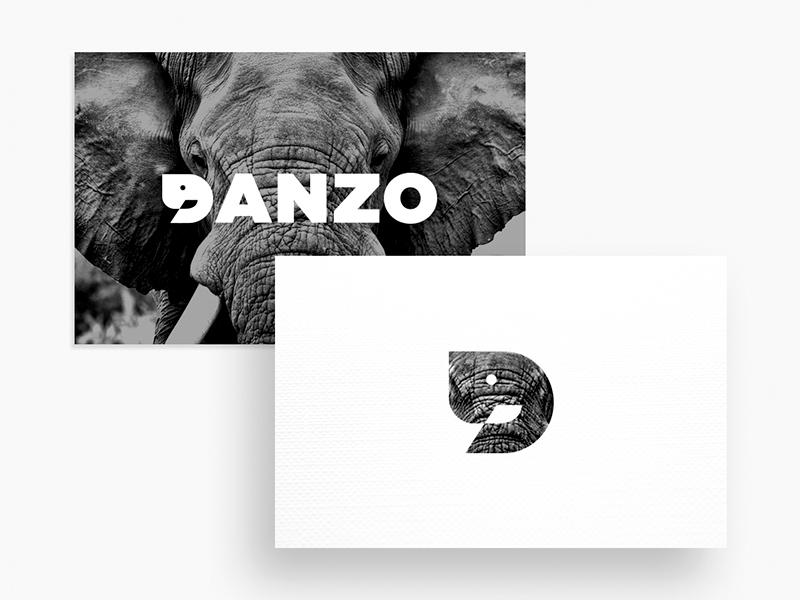 Danzo Logo ( D + Elephant ) typography logotype logo icon branding identity inspiration symbol minimal illustration elephant animal