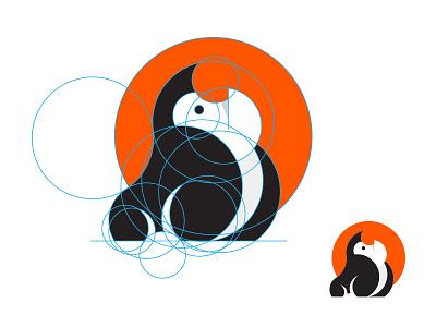Gorilla inspiration inspirational logo icon golden ration branding mark symbol identity illustration gorilla animal