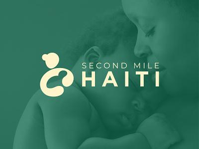 Second Mile Haiti Logo identity branding creative negative space minimal symbol logotype care child mother logo