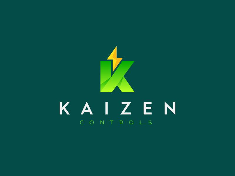 Kaizen Controls Logo powerful technology identity brand modern elegant font typography wordmark minimal type logo