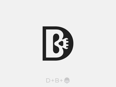 D + B + Skull Logo