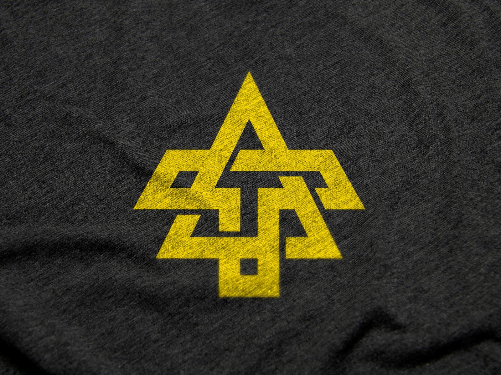 A & T Clothing Brand Logo Mark idea clothing fashion design illustration yellow black mark symbol icon icons typography type creative modern monogram logotype minimal subtle simple branding identity brand logo logodesigner logos