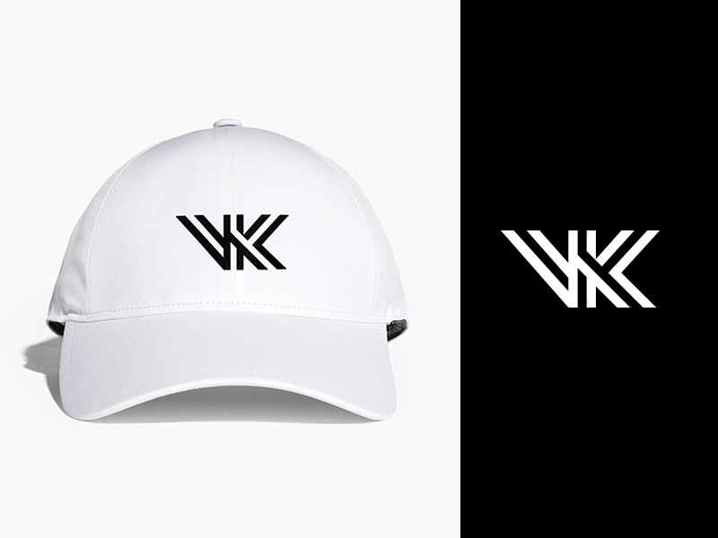VK Monogram for clothing Brand typography clothing fashion brand identity branding subtle creative logotype monogram symbol icon logo