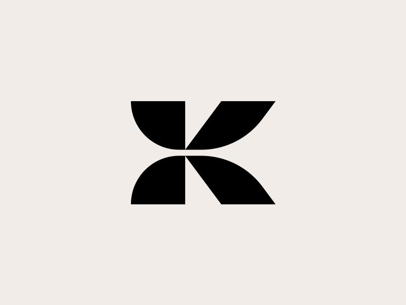 K - logo design brands monogram lettermark art k type typography graphics design logos black inspirational awesome best logotype icon symbol branding identity logo logomark creative logotype