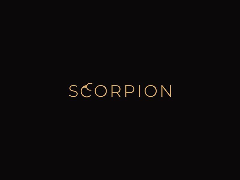 Scorpion Logo design symbol illustration ui ux luxury gold simple hidden icon logos identity branding subtle modern animal scorpion fashion brand wordmark logotype creative idea logo logo design logo designer