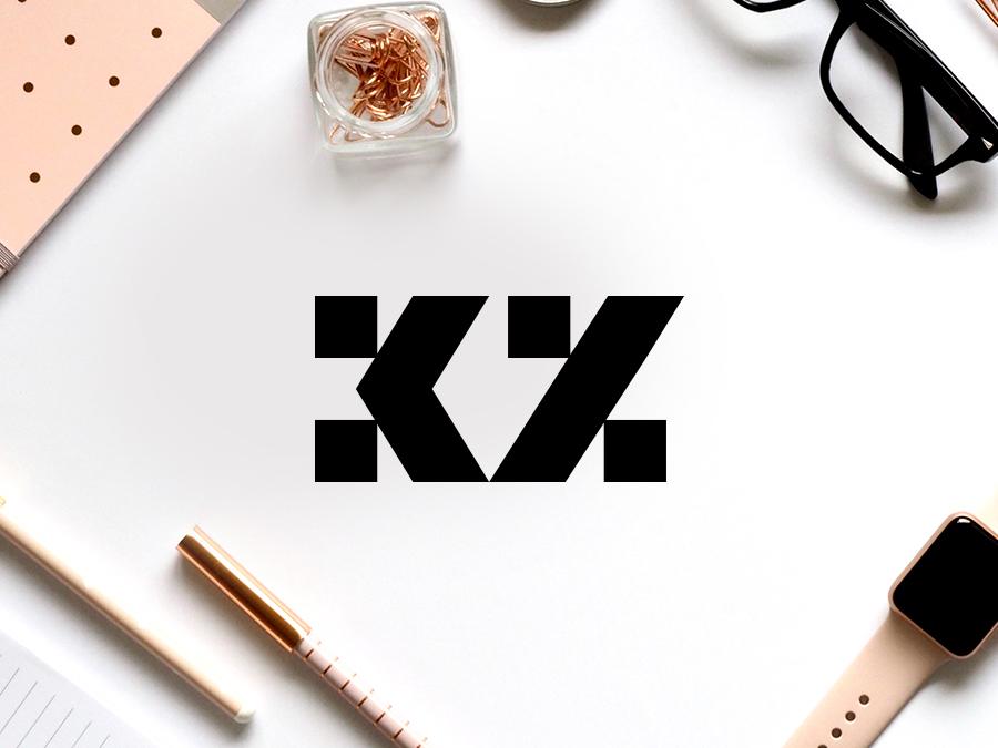 KZ Monogram graphics design web webdesign type typography ui ux inspirational awesome best logo logomark creative logotype icon symbol branding identity graphics design logos black brands monogram lettermark art