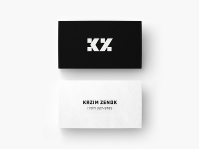 KZ - Kazim Zenok Logo & Business card minimal business card visualidentity brands monogram lettermark art graphics design logos black icon symbol branding identity logo logomark creative logotype inspirational awesome best type typography ui ux graphics design web webdesign