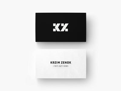 KZ - Kazim Zenok Logo & Business card