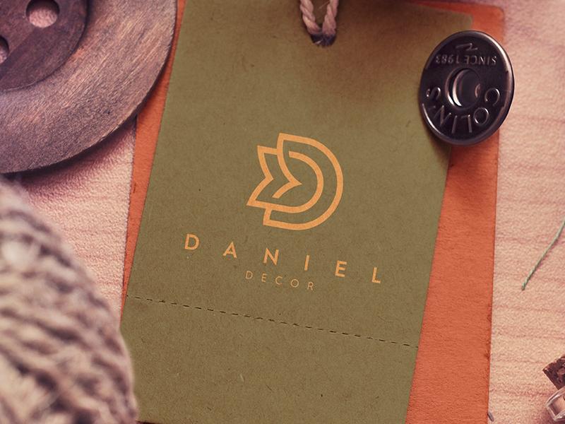 Daniel Decor Logo typogaphy minimal modern branding luxury typography monogram logotype idea symbol mark identity logo