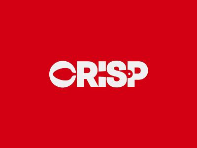Crisp Restaurant Logo negative space inspiration  idea graphic design type art food restaurant spoon fork subtle modern minimal clever wordmark symbol icon creative brand banding identity logo logos logo design