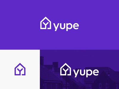 Yupe Real Estate Services Logo creative clever ideas logos logo designer inspirational idea brand branding identity graphics y lettermark logotype typography rent property realty business real estate house home modern minimal simple monogram logo icon symbol design