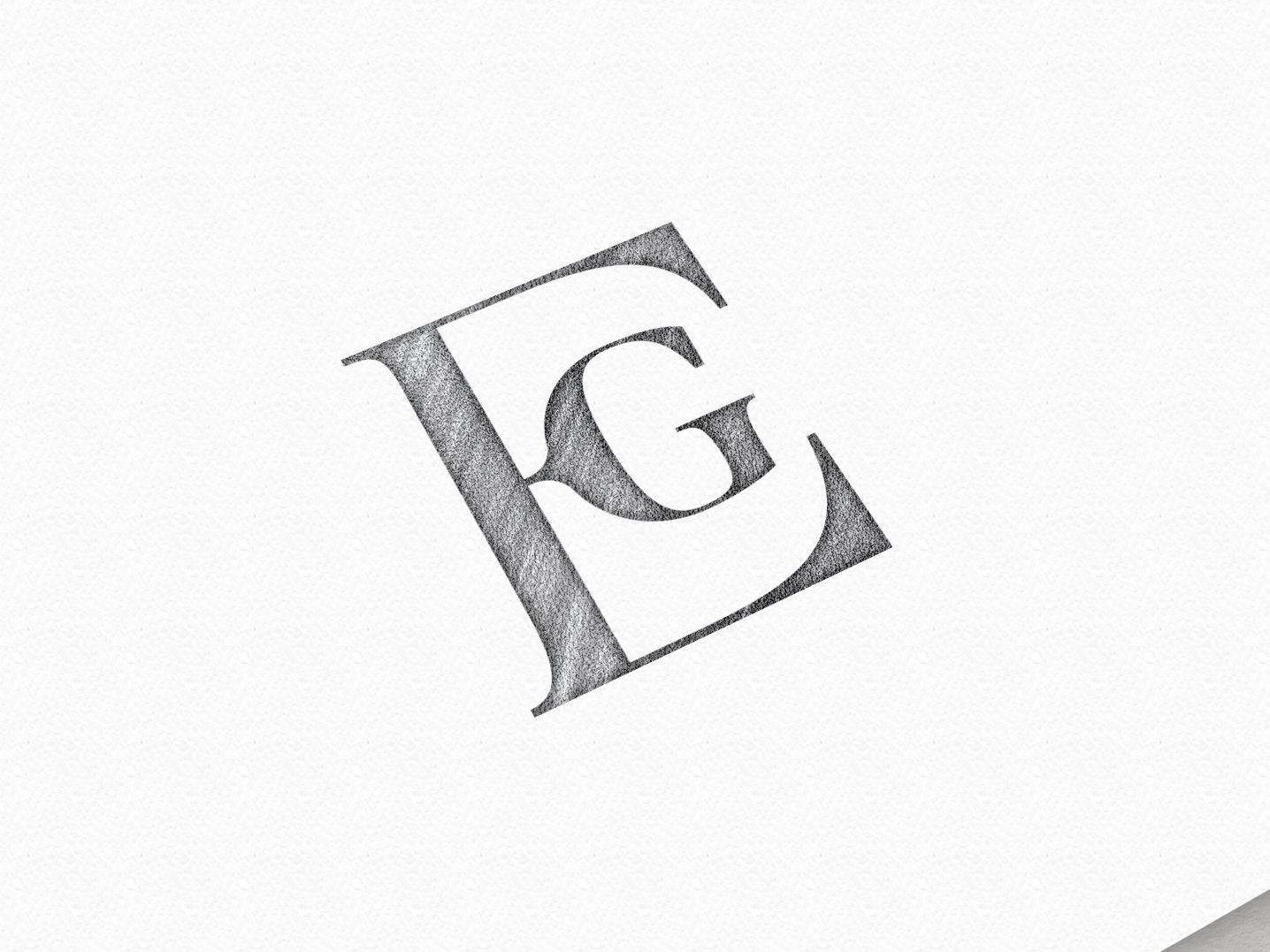 EG - Monogram / Logo mark illustration vector lettering type typography custom ideas logomark symbol logotype sketch idea logodesign logo monogram eg