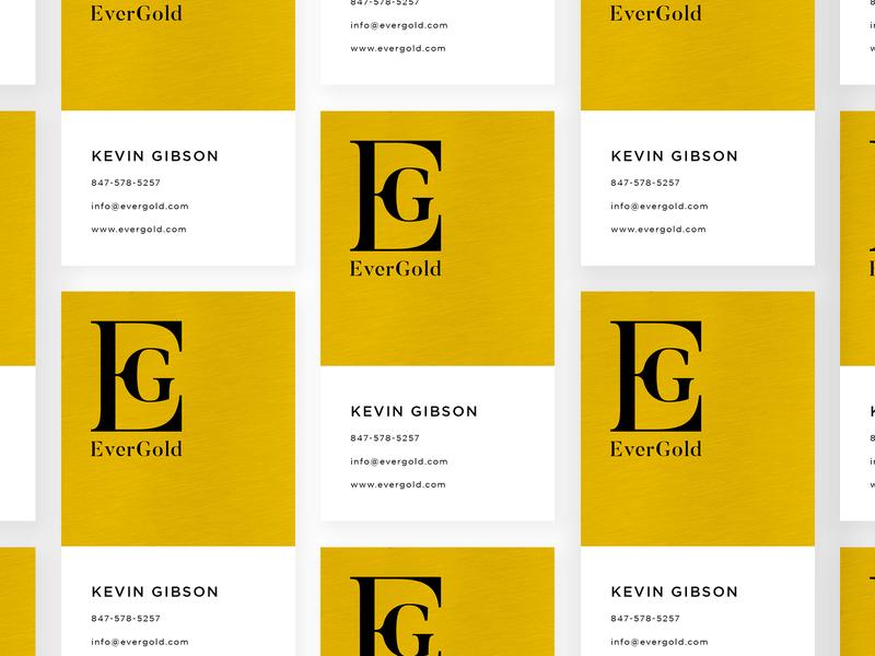 EverGold - Logo & Business Card Design logo designer ui ux graphics modern minimal elegant luxury rich golden royal business card designs icon symbol mark logos gold black white eg logo design monogram logomark