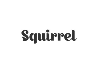 Squirrel Wordmark type mark fonts negative space logos inspirational logo designs brand branding identity designer logos  subtle modern simple idea creative squirrel animal animals logo icon symbol