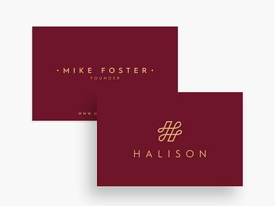 Halison Logo & Business Card Design elegant simple logomark creative ideas card design logos icon symbol lettermark h brand branding identity brands logo luxury logotype wordamrk