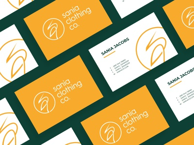 Sania Clothing Co. Logo & Business card typography layout ui ux graphic designer luxury logotype modern minimal elegant graphics brand branding identity design logo logos symbol icon logomark