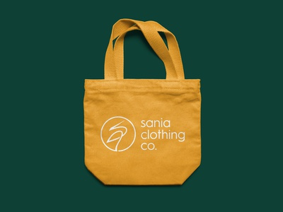 Sania Clothing Co. Canvas Bag Design.