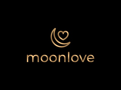 MoonLove Cafe Logo Design