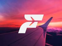 F for Flight Lettermark / Logo