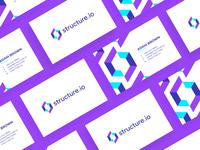 Structure.io Business Card Design