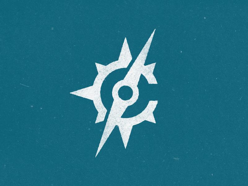 C for Compass Lettermark / Logo graphics type typography modern minimal simple design logo icon symbol mark