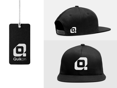QuikOn Logo for Fashion Brand black white logomark modern simple clean graphics ideas logos best awesome clothing apparel cap hat branding identity brand fashion logo icon symbol monogram
