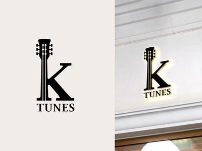 K Tunes - Logo Design for Music Shop
