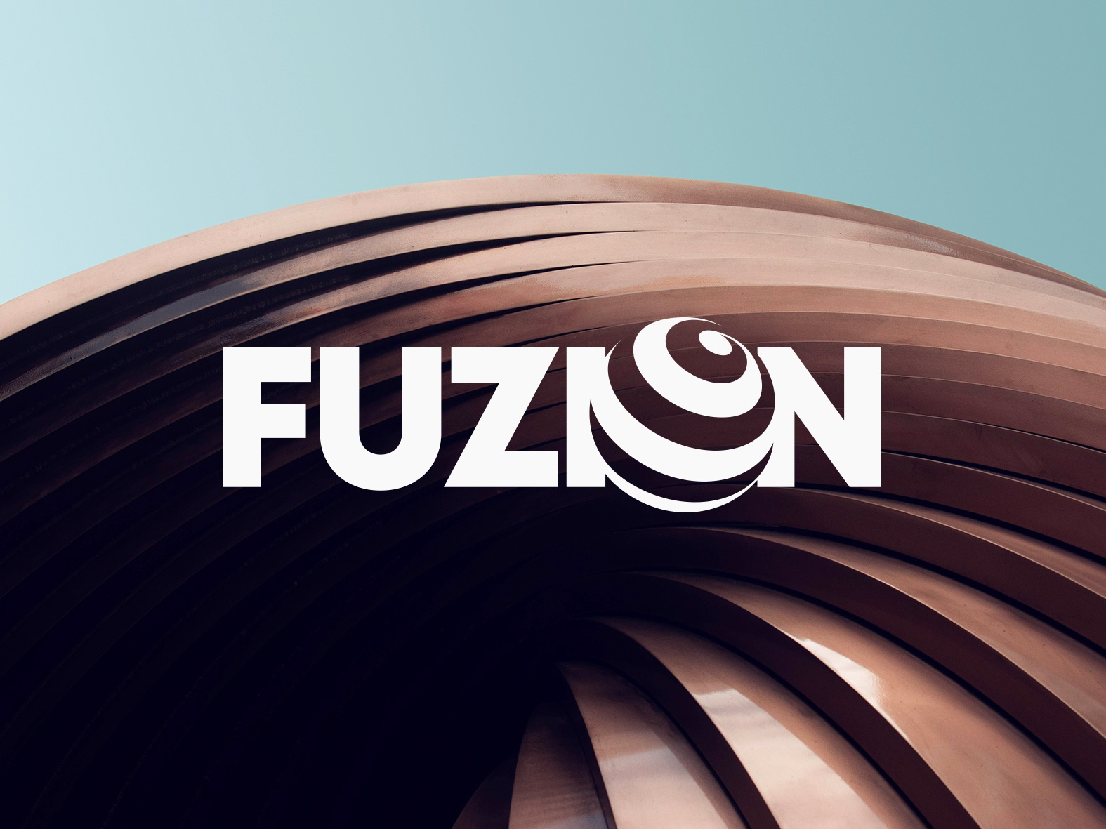Fuzion Logo Design business logo designer brand branding identity type typography typeface circle round black graphic graphics design wordmark lettermark logotype logo designer best top 3d globe animation