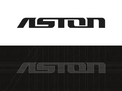 Aston Steel Group - Logo Design brand branding identity grids typeface font typography house home building creative construction real state realty logo designer design grid typography graphic design logos logo icon symbol mark