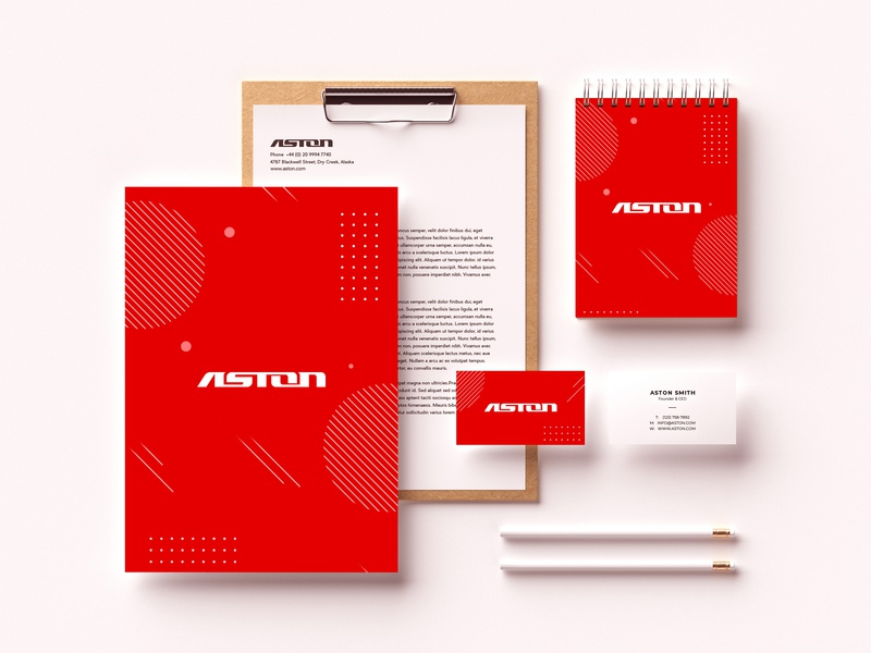 Aston Identity Design web ui ux web design company industry letterhead creative inspiration logos design graphics business cards stationary design symbol wordmark brandidentity branding identity a logo