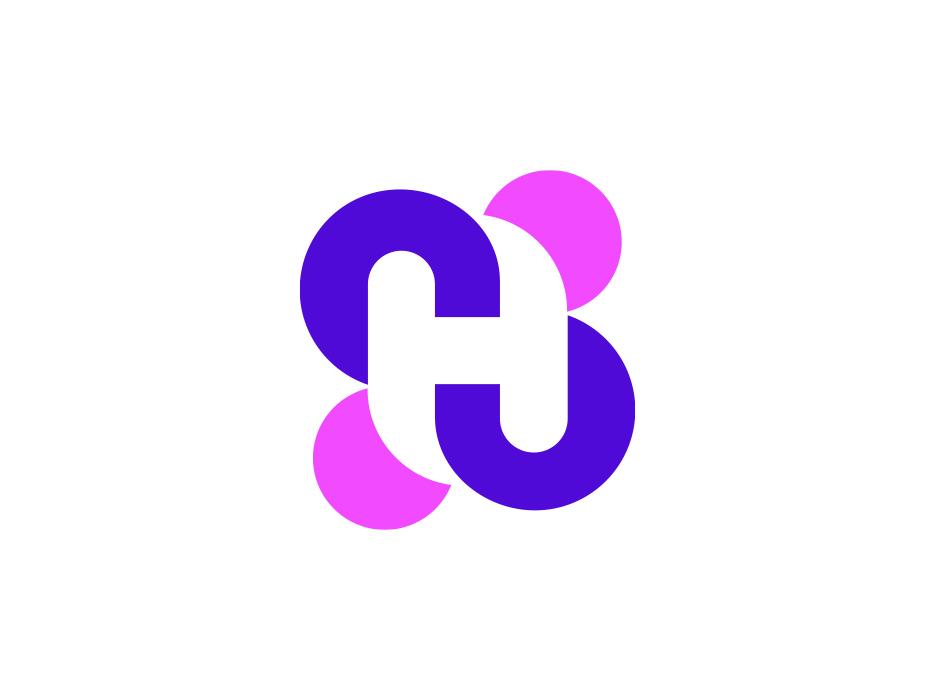 H Lettermark  Logo. logo designer graphic idea graphics web ui ux logos type typography creative h letter lettermark monogram logo icon symbol mark