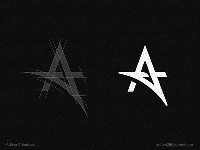 A - Lettermark Logo Construction Grid.