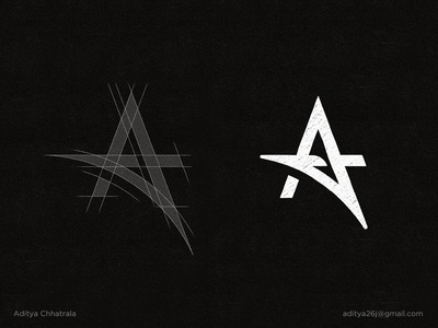 A - Lettermark Logo Construction Grid. modern minimal simple clever sports clothing fitness gym brand branding identity design logogrid gridding grid logos lettermark monogram brandmark a logo symbol icon logomark