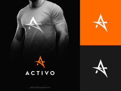 Activo - Logo for a sports Clothing brand modern minimal subtle fashion brand branding identity logo designer graphic type typography logotype a graphics graphic logos designer web ui ux digital health business creative a sports fitness clothing fit gym logo icon symbol logomark