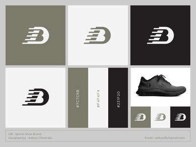 DB - Logo for a sports shoe brand sports running fashion sneakers branding brand identity brands