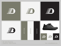 DB - Logo for a sports shoe brand