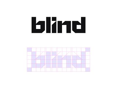 BLIND - Logotype illustration typography branding logo icon logos social symbol design freelancer logodesign designer minimal graphic media identity newyork top modern technology customtype logodesigner logotype digital wordmark monogram logomark brand