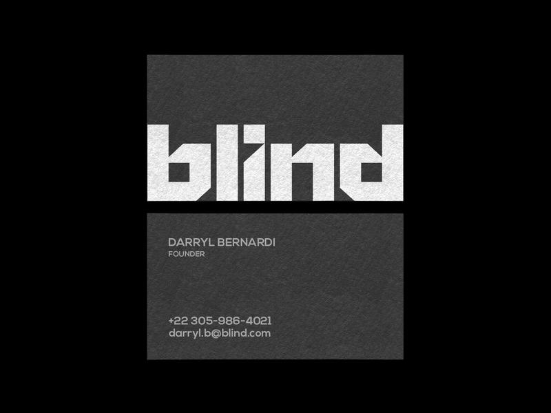 BLIND - Business card design