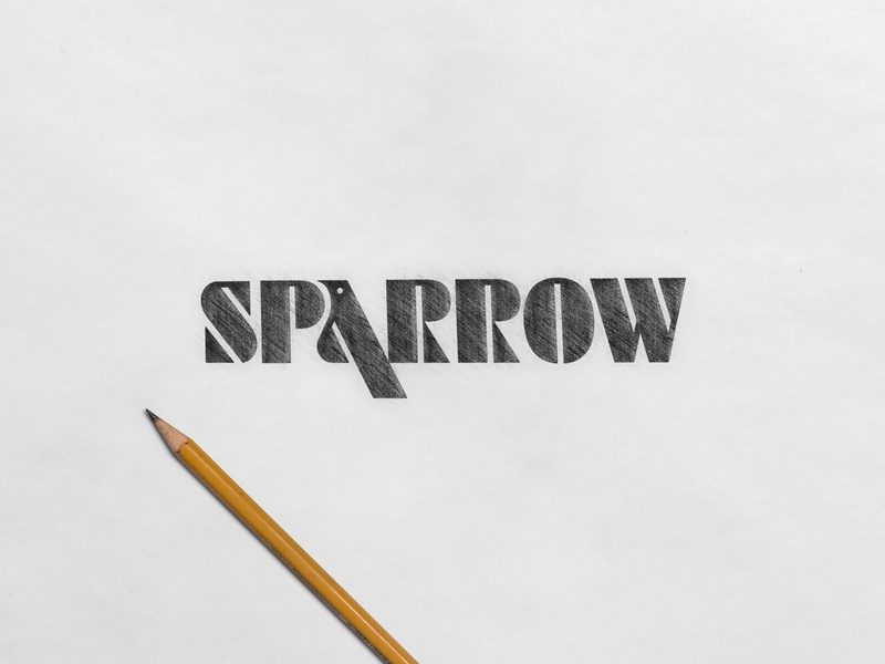 Sparrow - wordmark logo design