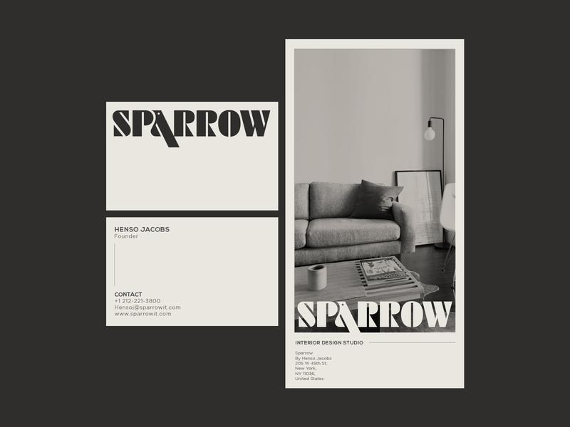 Logo Design for Sparrow Interior Design studio minimal modern trends brand identity branding interiordesign bird sparrow logo designer logo design logotype wordmark logomark logo