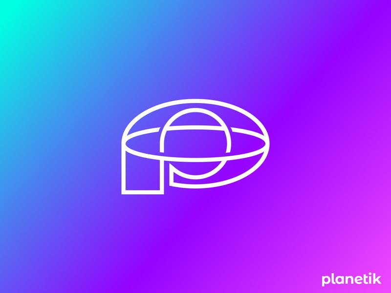 Planetik Logo Design.