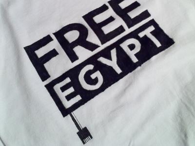 FREE EGYPT egypt internet freedom network shirt tshirt human rights